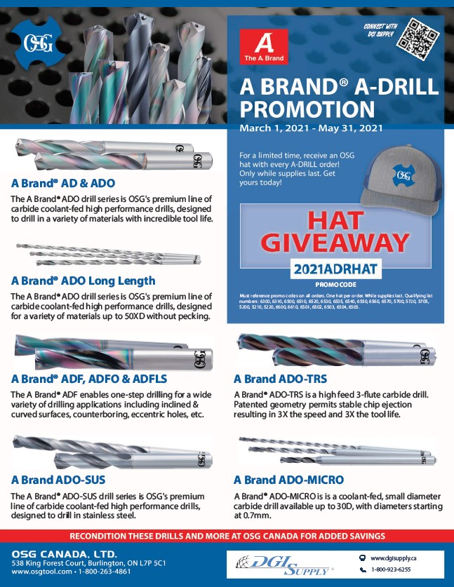 OSG A-Brand A-Drill Promotion