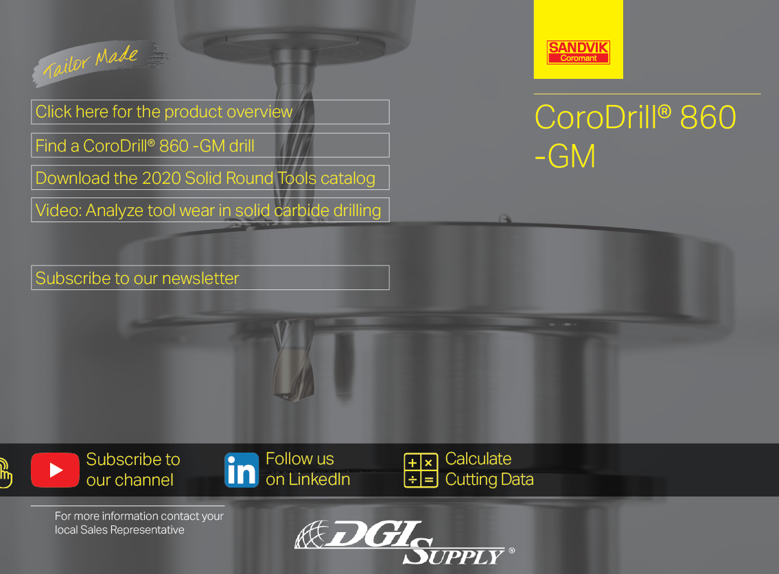 Sandvik Coromant CoroDrill 860-GM Pocket Guide