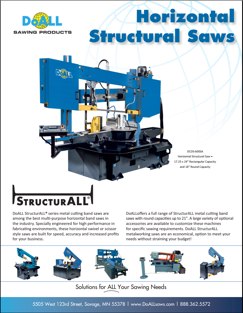 DoALL Horizontal StructurALL Band Saws