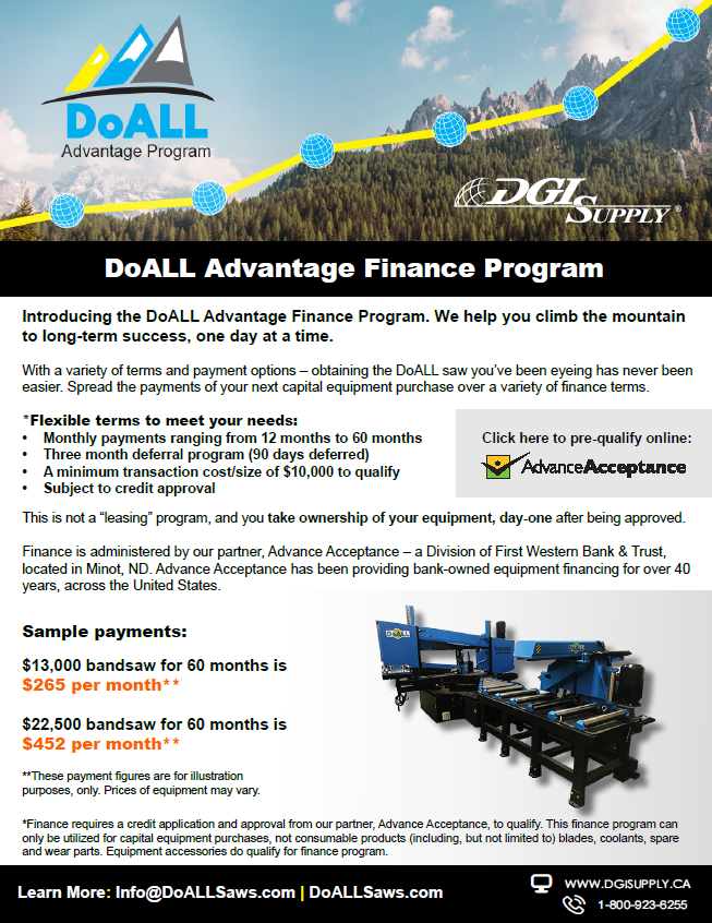 DoAll Advantage Finance Program