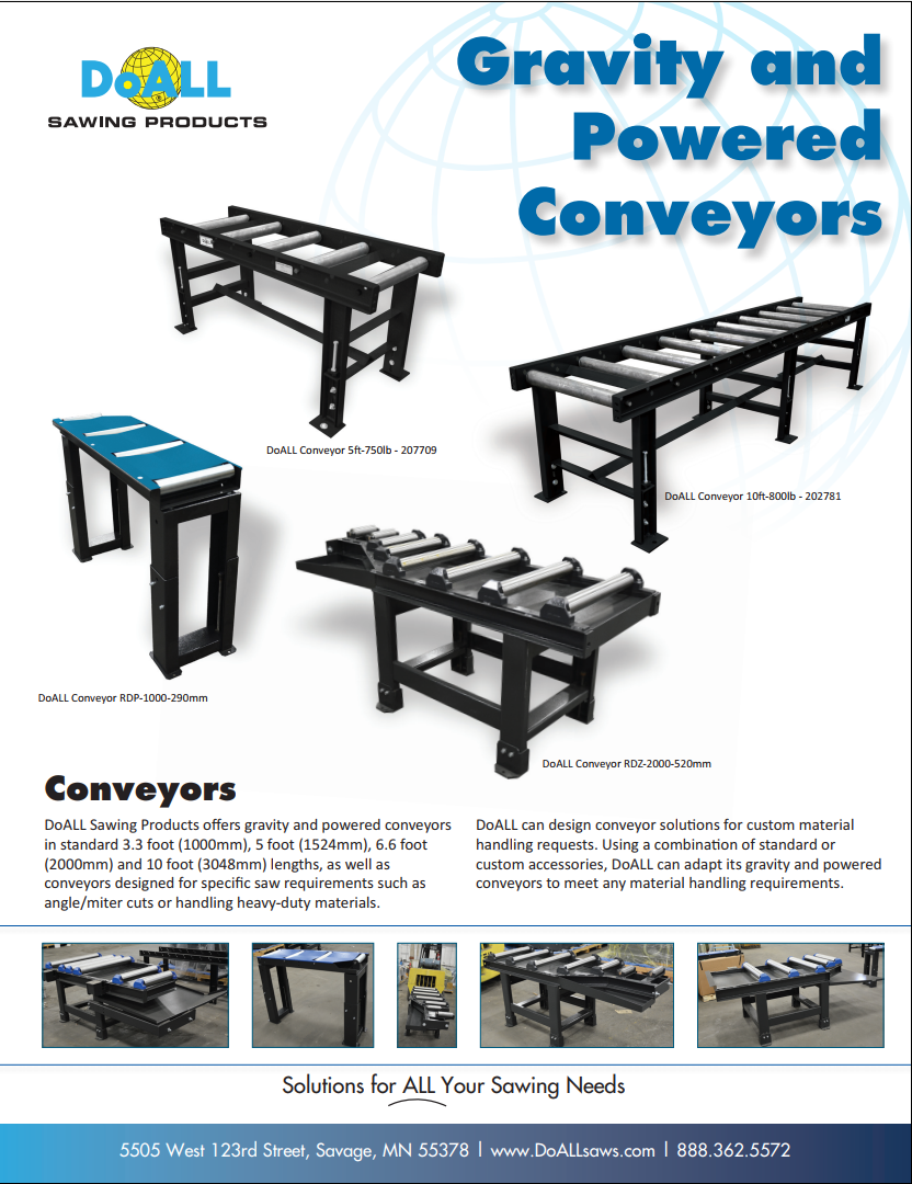 DoALL Gravity and Powered Conveyors