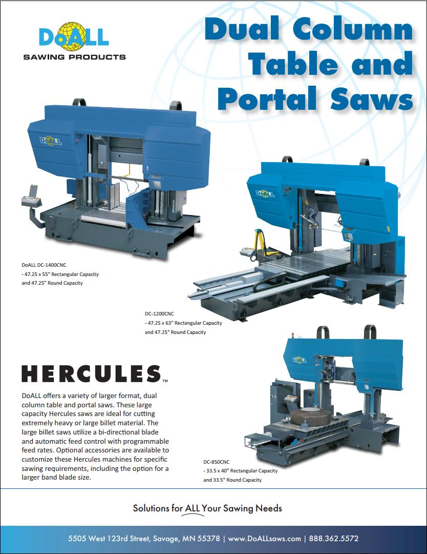 DoALL Dual Column Hercules Portal Band Saws