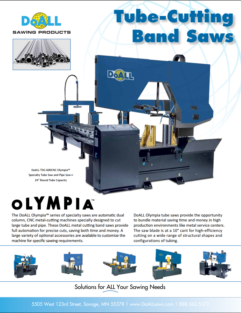 DoALL Olympia Tube Pipe Band Saws