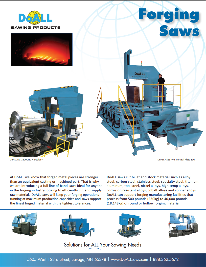 DoALL Forging Industry Band Saws