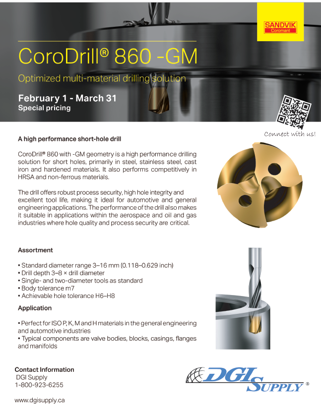 Sandvik Coromant CoroDrill 860-GM