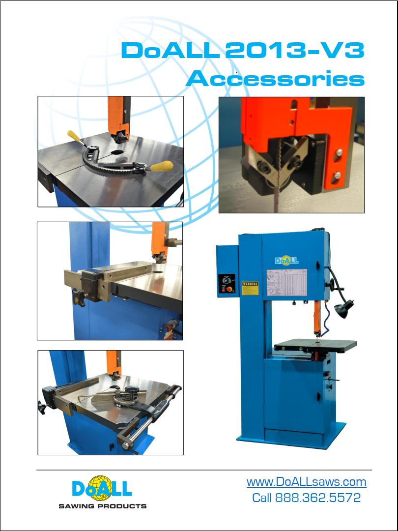 DoALL 2013 V3 Band Saw Accessories