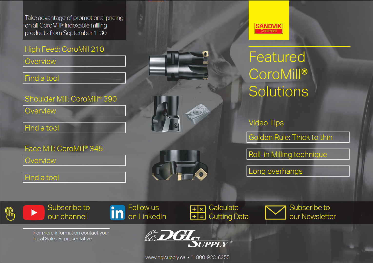 Featured Milling Assortment - Pocket Guide DGI